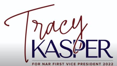 Photo of Tracy Kasper for 2022 NAR First Vice President Candidacy Announcement.
