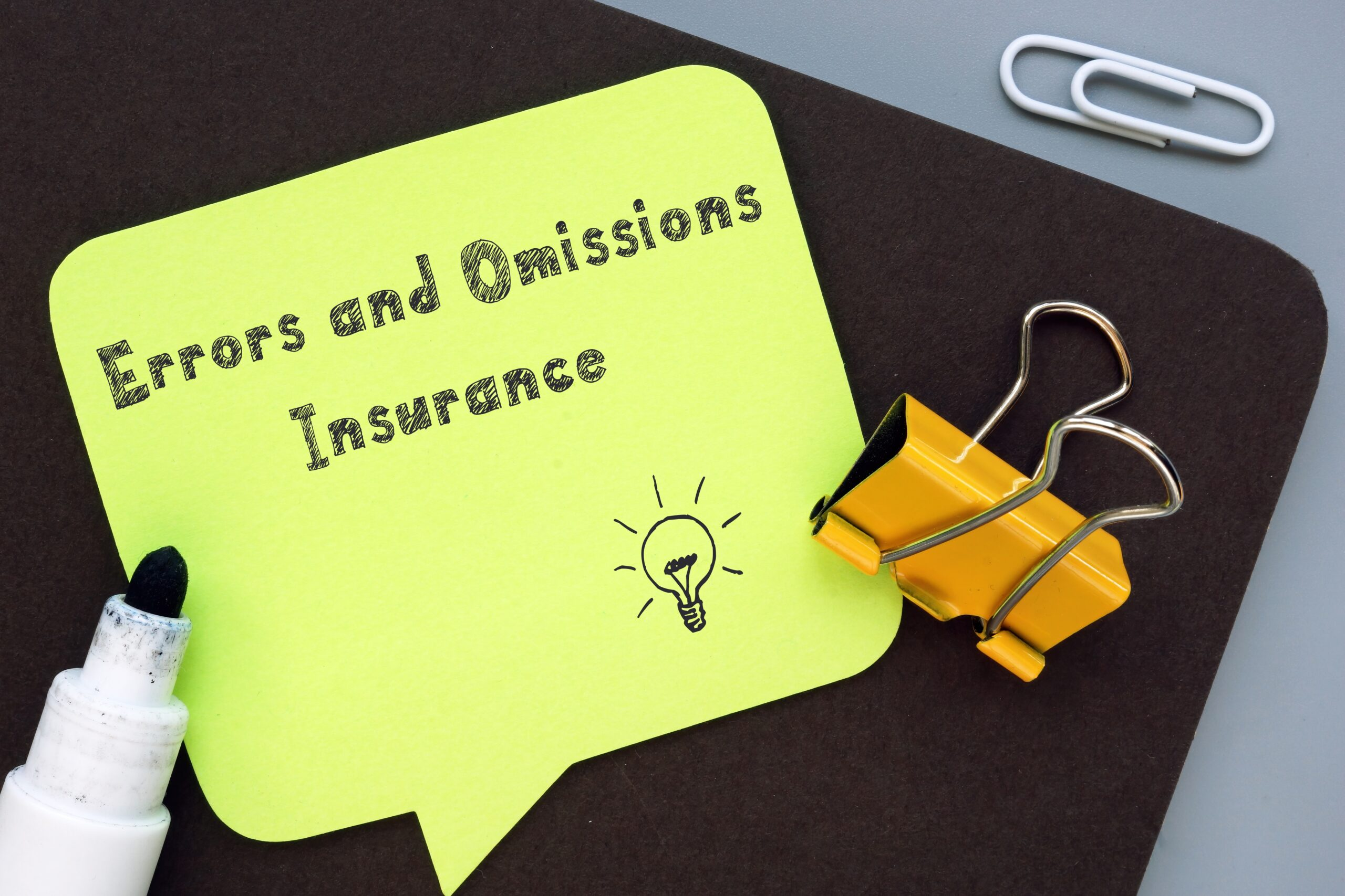 Errors and Omissions Insurance Reminder bubble
